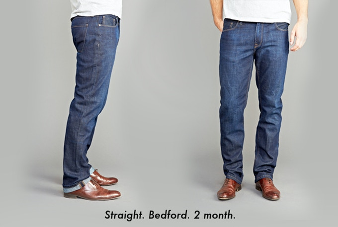 Fit - Straight; Fabric - 'Bedford' (100%Cotton); Wash - 2 Month