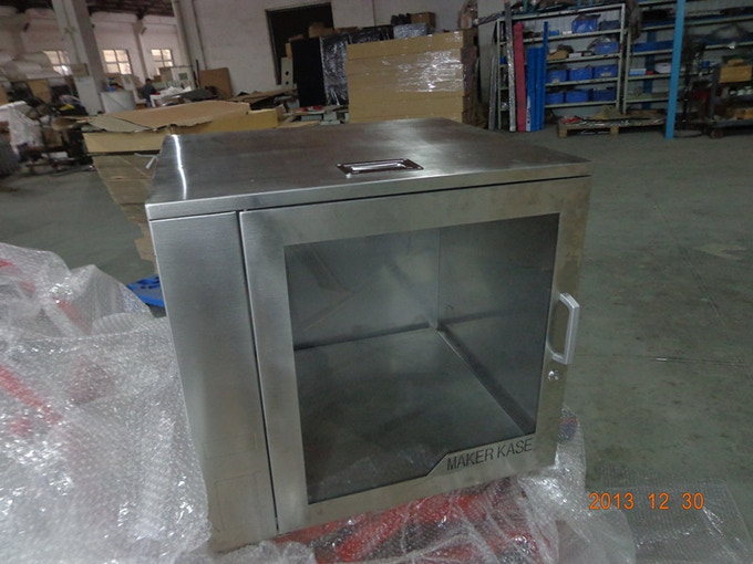Original cabinet in stainless steel straight off production.