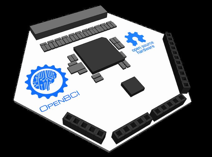 Wireframe Concept Render of OpenBCI V3 (Kickstarter Release)
