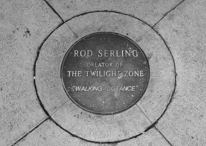 Plaque which rests at the Rod Serling carousel in Binghamton, NY