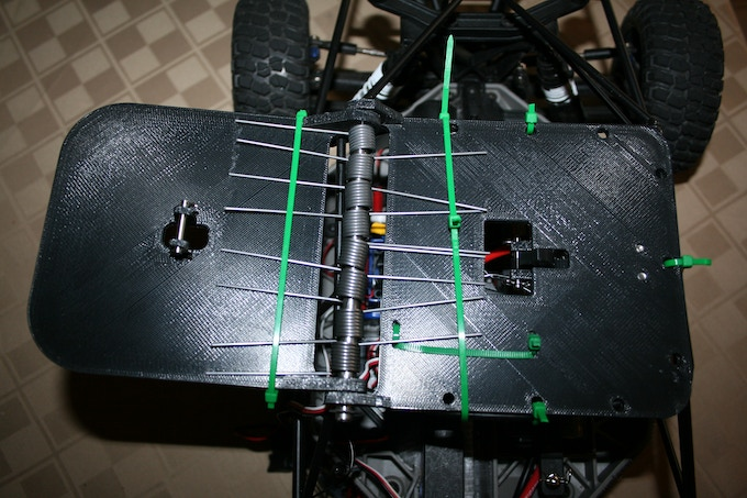 Early prototype using printed version of RhinoForce S2 mounted on Slash roll cage