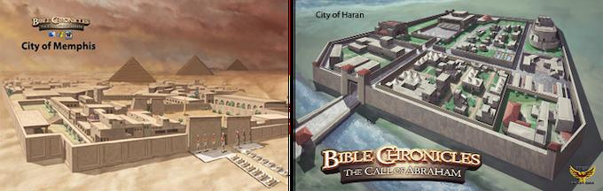 Cities of Memphis & Haran