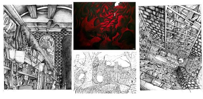 Selection of artwork by Andrew Platt