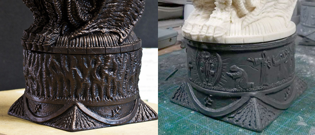 original cup (finished) and alternative cup (unfinished)