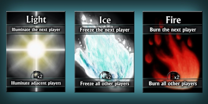 Card Samples: Light, Ice, and Fire