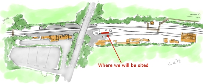 A map of the site, our coach will be accessible direct from the platform, and will be completely wheelchair friendly!