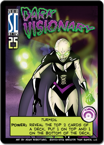 Dark Visionary Promo for Sentinels of the Multiverse