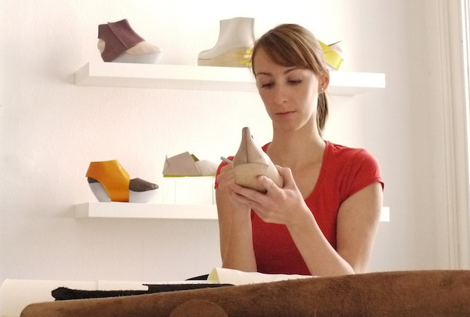 Sara at her studio