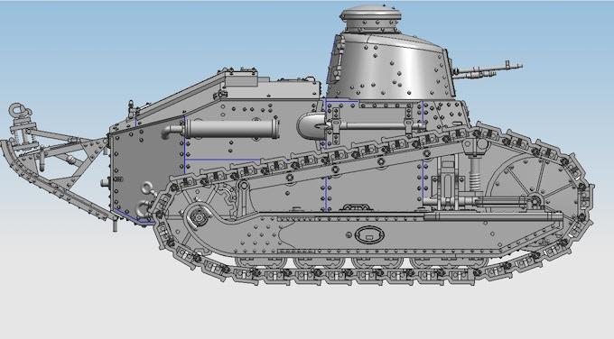 3 D Cad Design for Renault Tank