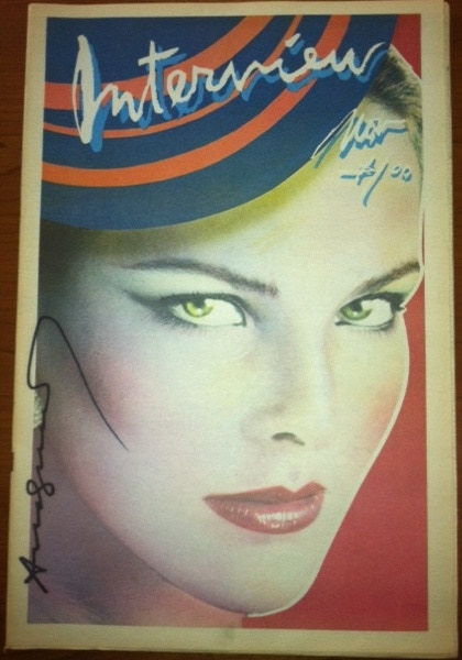 Signed Andy Warhol - Carole Bouquet Cover NOW ONLY $902 !!!