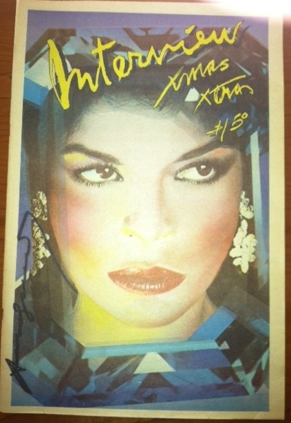 Signed by Andy Warhol - Bianca Jagger December 1978