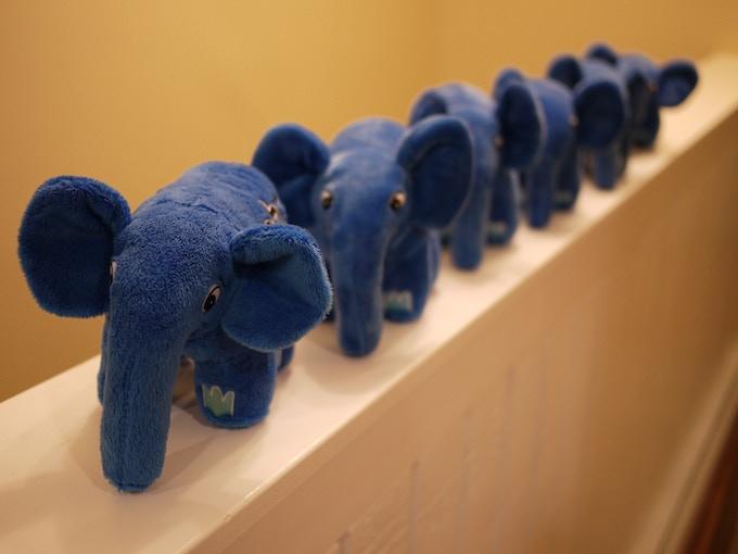 Blue elePHPants on parade