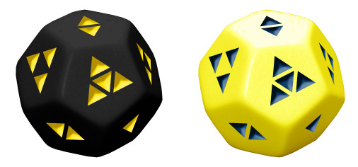 The Jazzy Bear (Black with Yellow, and Marble Yellow with Blue)