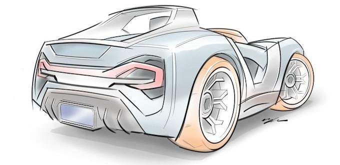 Brian's Sketch of Street Car