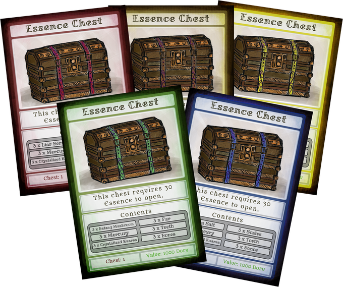 Essence Chests for each Land and the Road