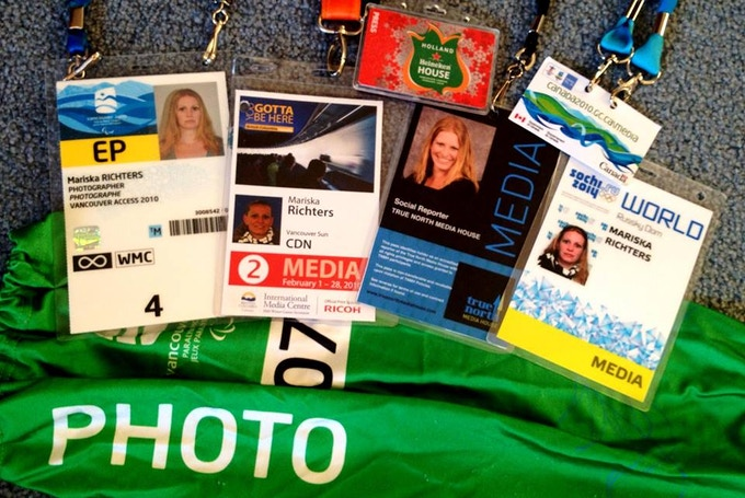 Vancouver 2010 Olympic Media Accreditation Badges