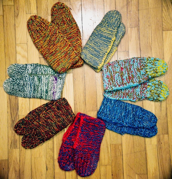 Lämmin Slippers - Handcrafted with love using recycled wool and textile materials