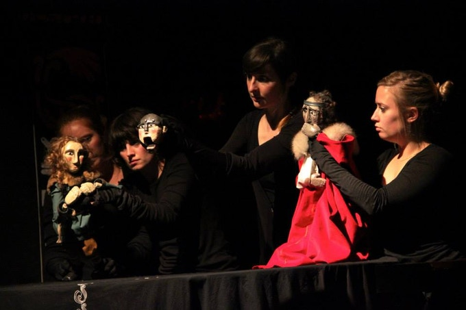 Barely Human Puppets performing Beowulf October 2013