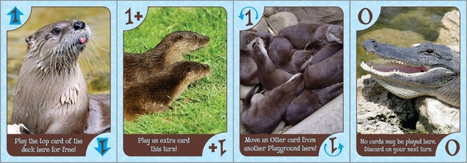 "The various special otter cards, plus the alligator. These are the original ""Speedy"" versions of the cards."