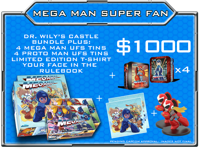 NOTE: The Mega Man Super Fan pledge level receives 2x ALL unlocked BONUS stretch goals!