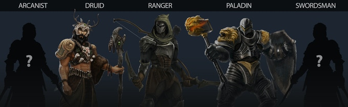 Concepts for three of our five character classes, more coming soon!