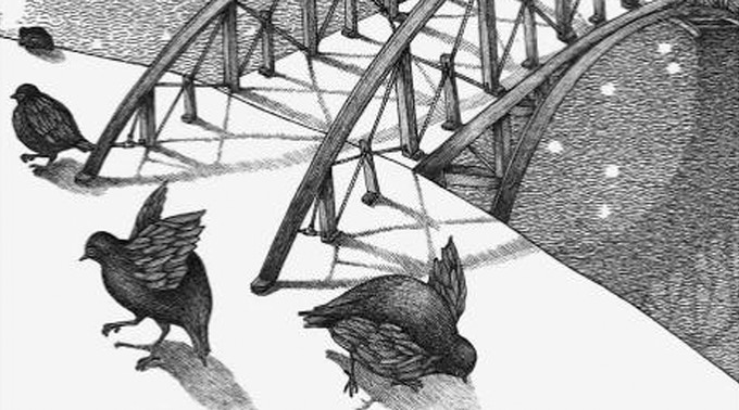 Cropped illustration from Ten Birds by Cybèle Young