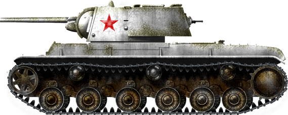 KV 1 Winter Camouflage