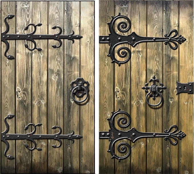 Samples of door texture art.