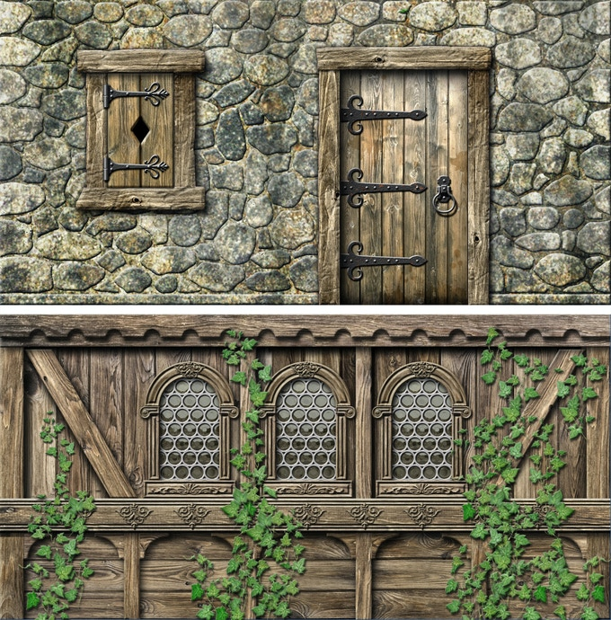 Samples of the prototype wall textures.
