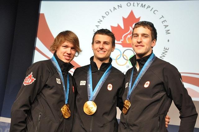 Vancouver 2010 - Men's Team Pursuit Speed Skating Gold Medal Team