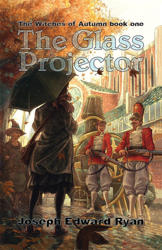 Julio Real's cover art for Joseph Edward Ryan's The Glass Projector