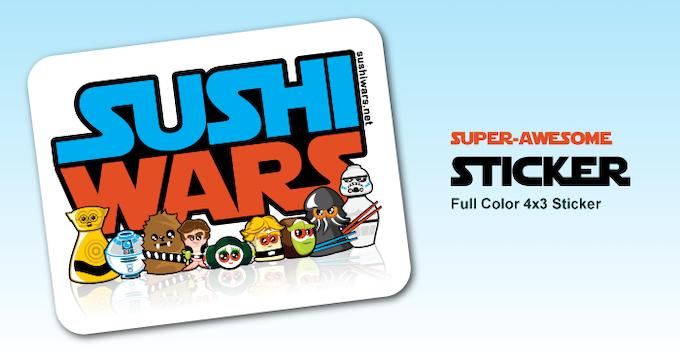 Sushi Wars Sticker