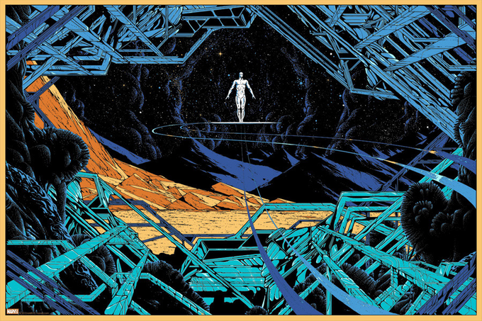 Limited Edition Silver Surfer Mondo poster signed by DOUG JONES!