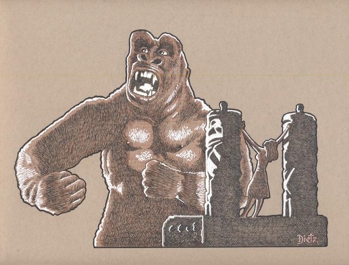 Original Dietz Kong Altar Artwork