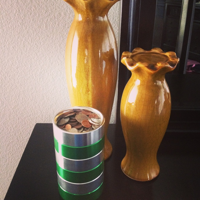 Hate having too much money and your coin jar overflows? Make it taller!