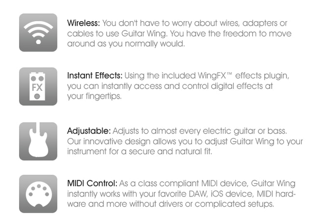 Guitar Wing: Wireless Control Surface for Guitar and Bass by