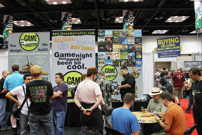 The Game Crafter booth at Gen Con 2013!
