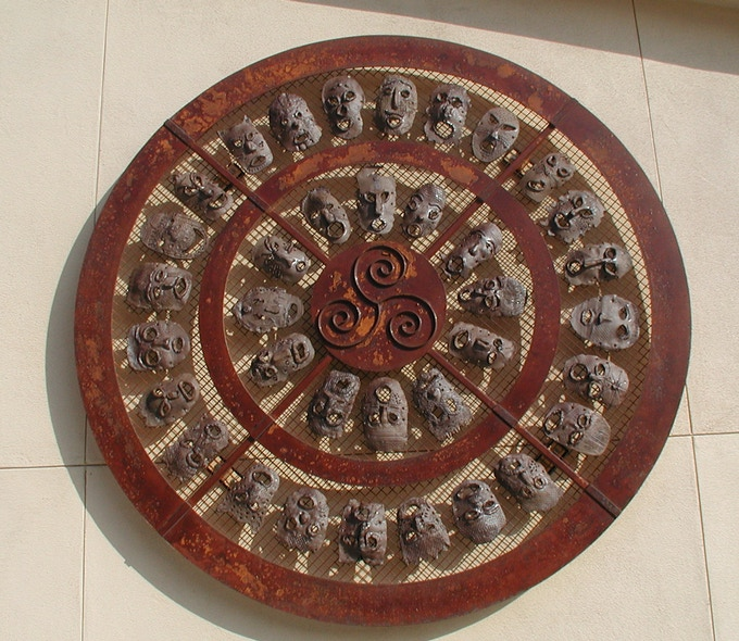 Mask Mandala, Theuerkauf Elementary School, San Jose, CA