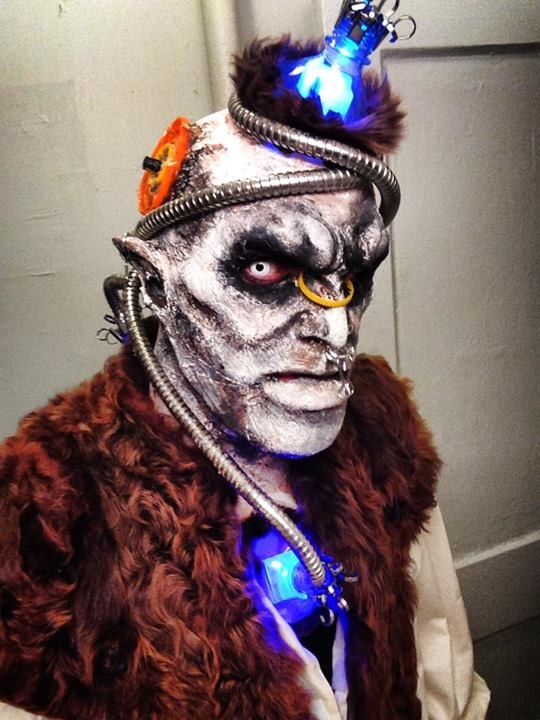 Mark DiConzo in his own Halloween makeup that he designed
