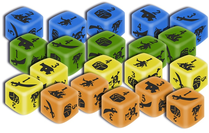 Image is mock-up of dice. Dice will be made of wood.