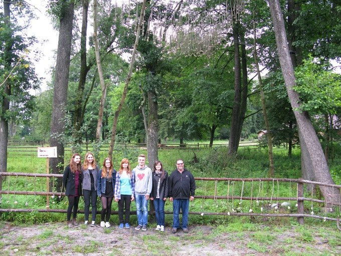 Bill with FR2-SP2 Teen Interns in front of 'Sticks & Stones', Land Art Festival 2013, Lublin, Poland