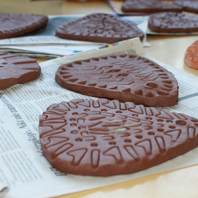 Community-made clay tiles