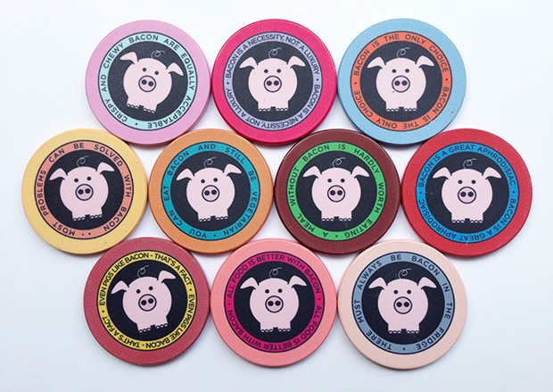 Set of 10 chips - front