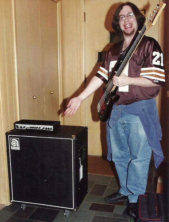 First bass rig, 1993.