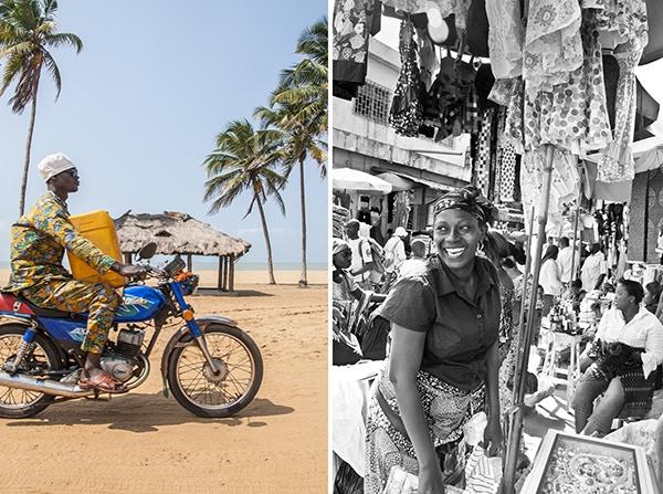 Water jug, Benin. Market smile, Togo.