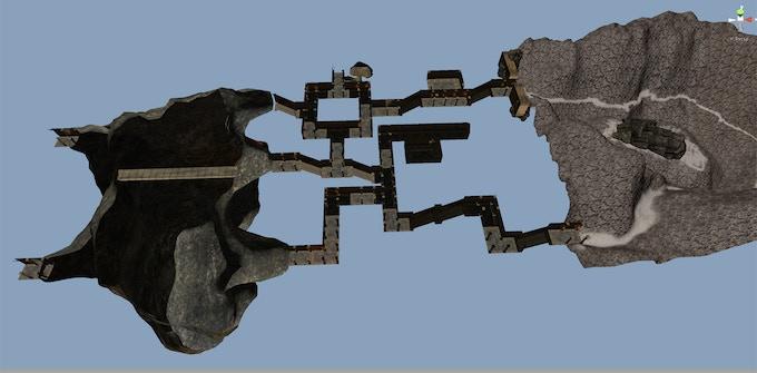 Early dungeon work on Sunken Sanctum