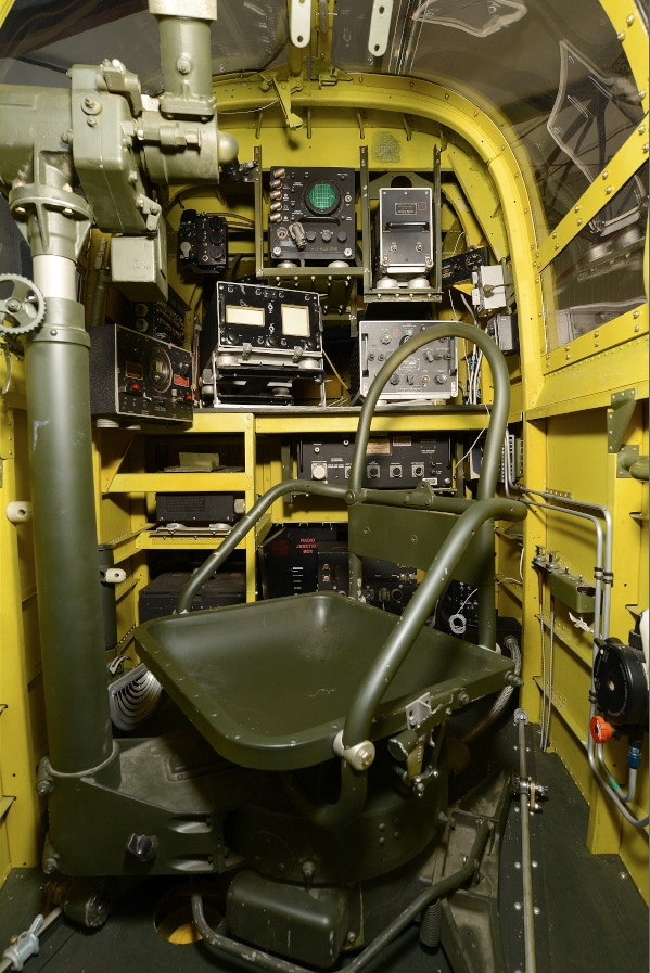 Check out the beautifully restored Radio Operator's compartment.