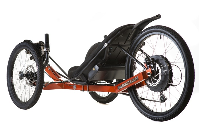 This is an example installation in a trike.