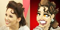 SLAYER OF SLAYERS Reward Tier - personalized pixel art portrait example