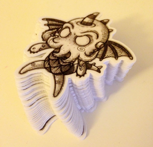Exclusive Cthulhu stickers (photo)